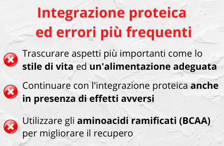errori integrazione proteica